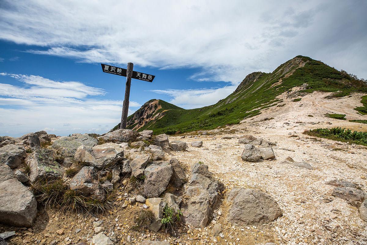 【天狗岳】登山百景-稜線に出た
