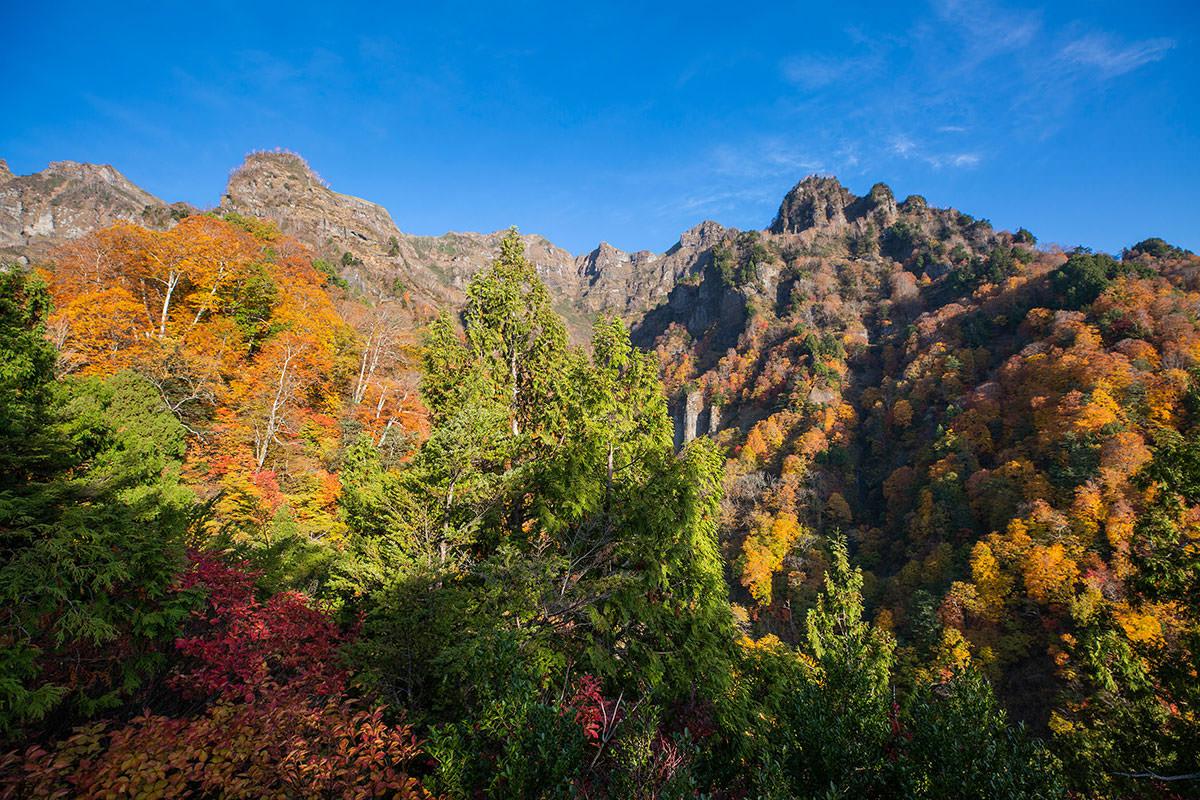 【戸隠西岳】登山百景-右に見える山が険しい
