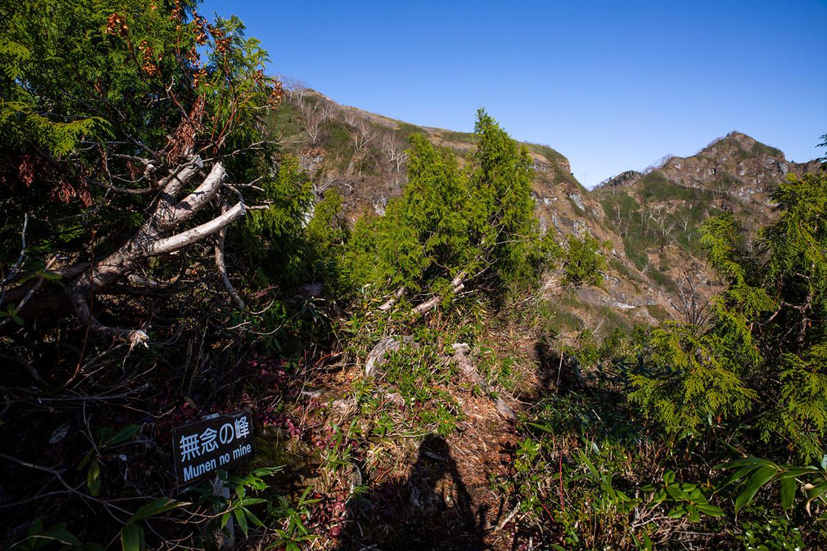 【戸隠西岳】登山百景-無念の峰に着いた