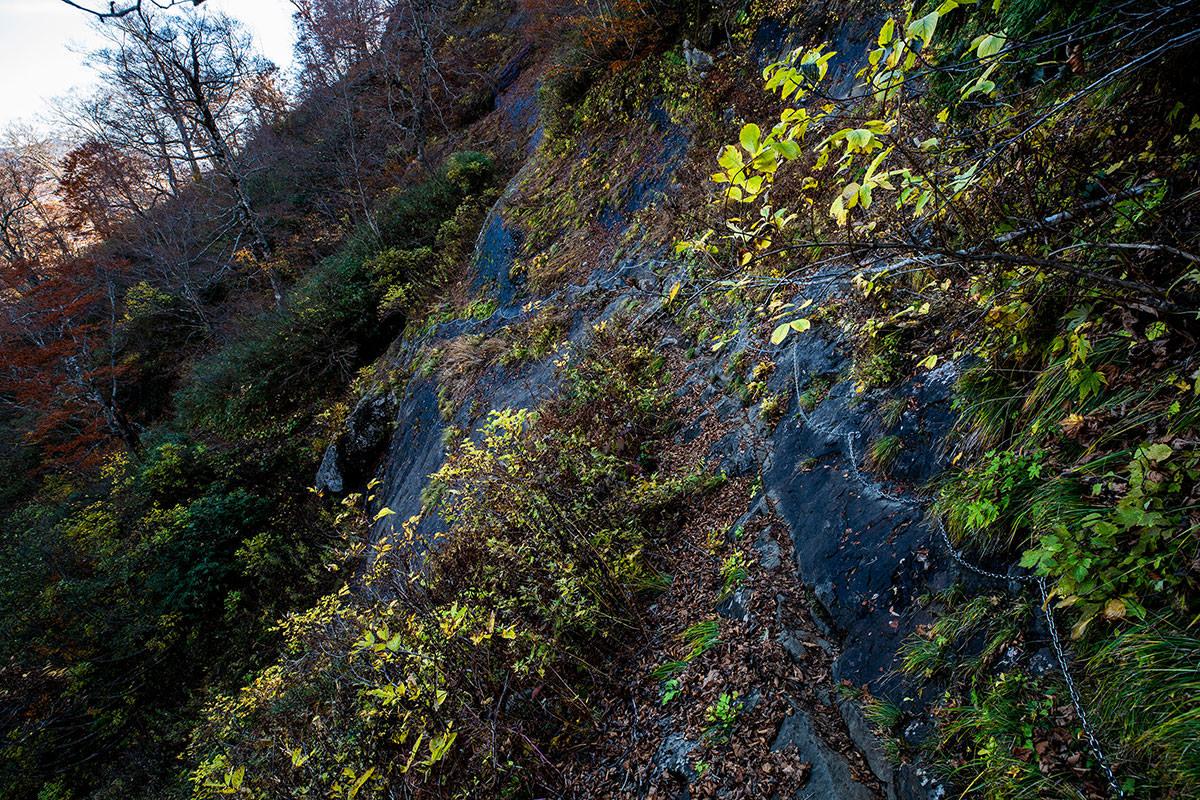 【戸隠西岳】登山百景-帯岩はニガテ