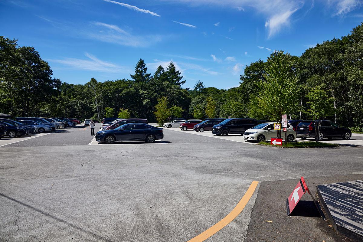 戸隠山-広い駐車場は3時間600円