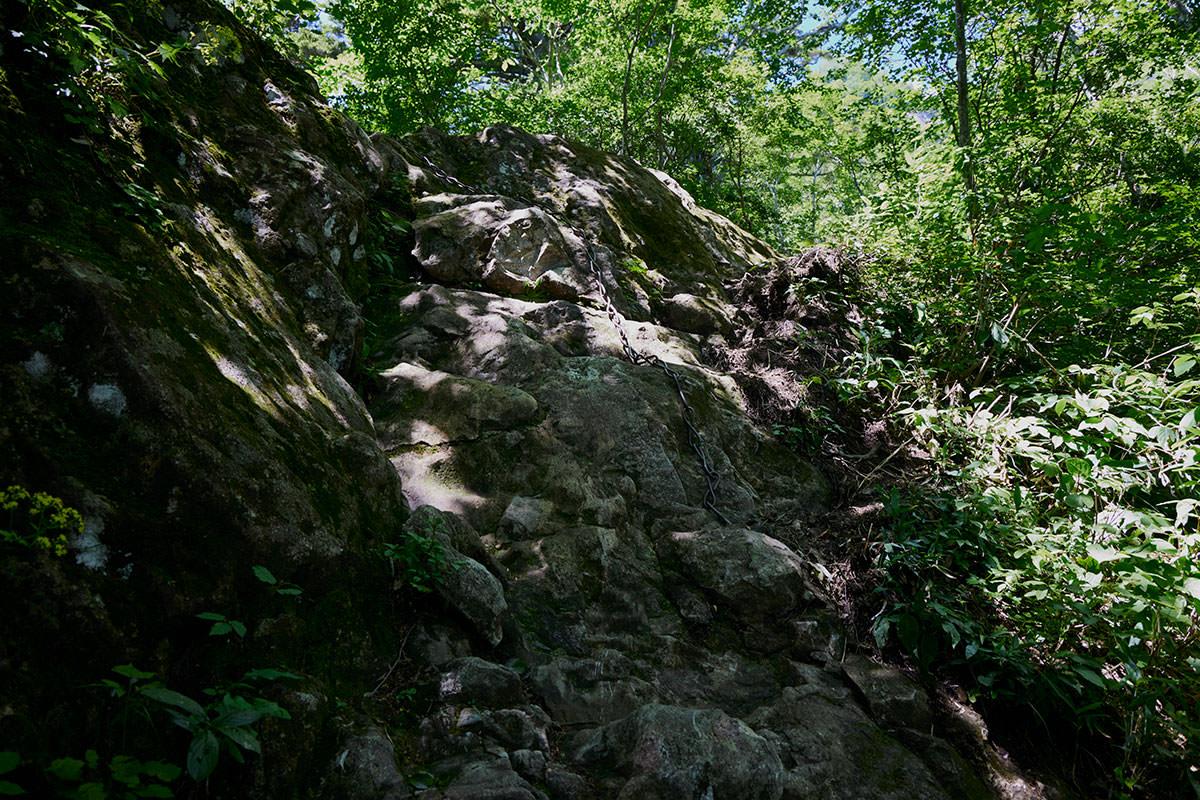 戸隠山-最初の鎖場