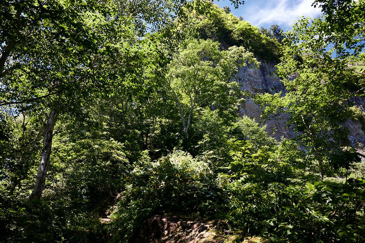 戸隠山-目の前に岩壁が迫ってきた