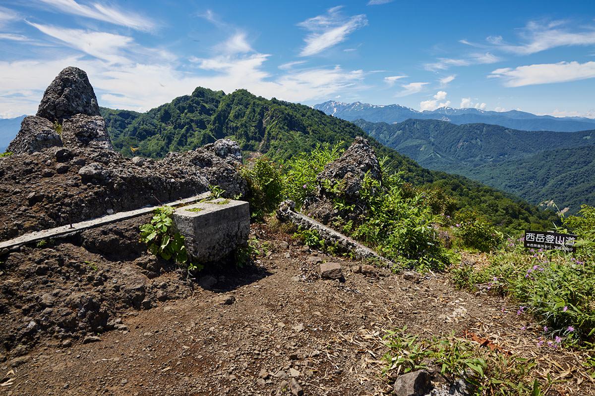 戸隠山-西岳への分岐点