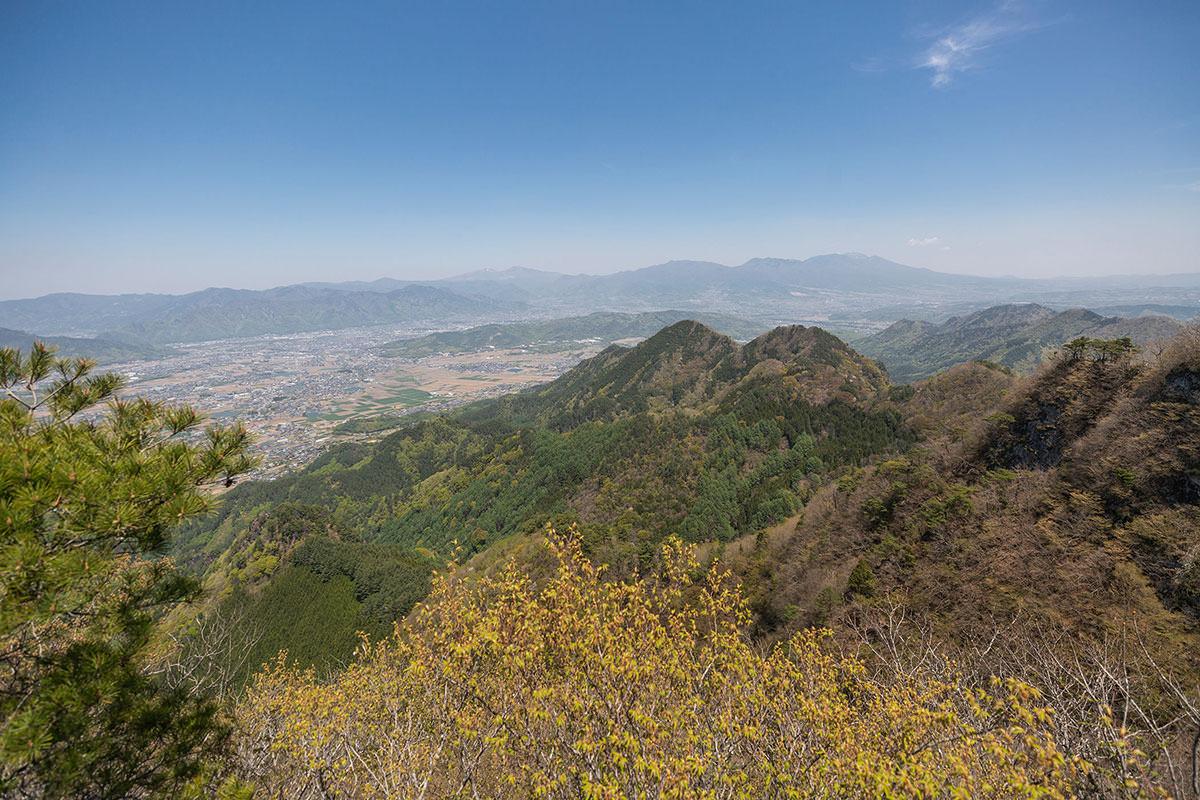 浅間山と四阿山の方面