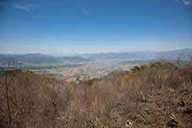 上田市街を眺める