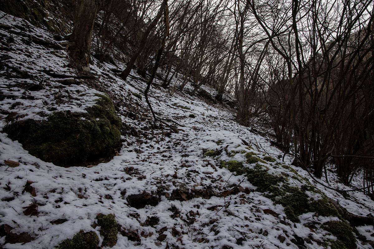 独鈷山-序盤は雪がうっすら