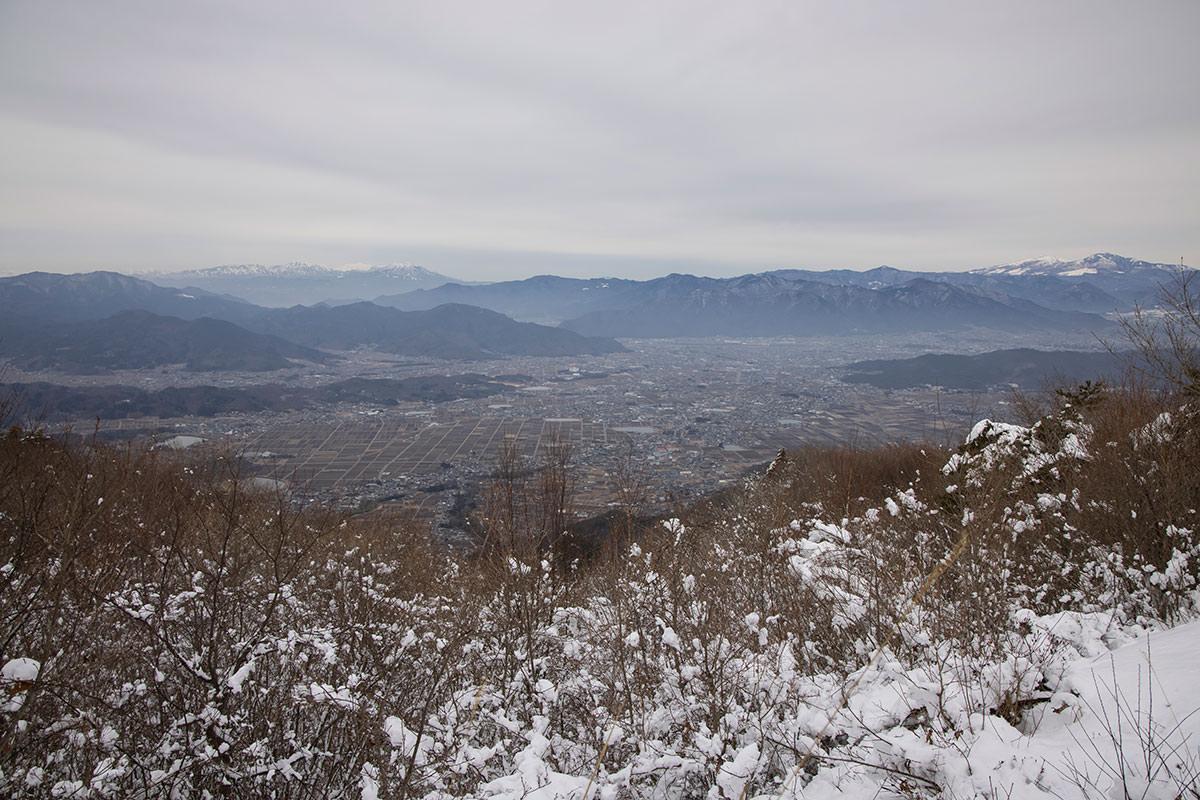 独鈷山-上田市街を見下ろす