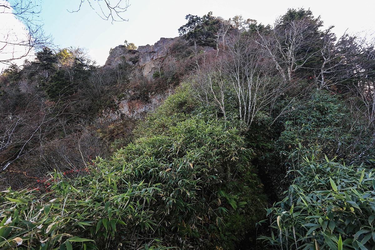 カミソリ岩が目の前に迫る。