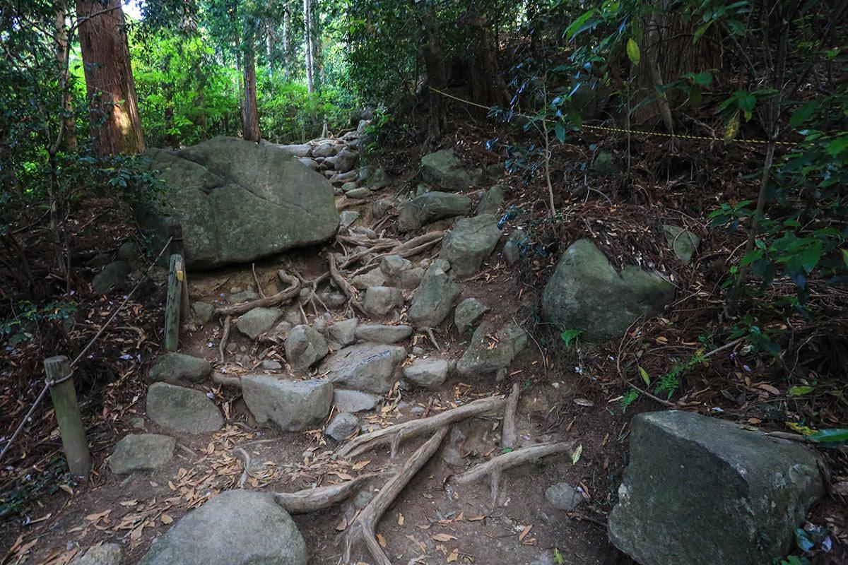 【筑波山】登山百景-大きな石が目立つようになった