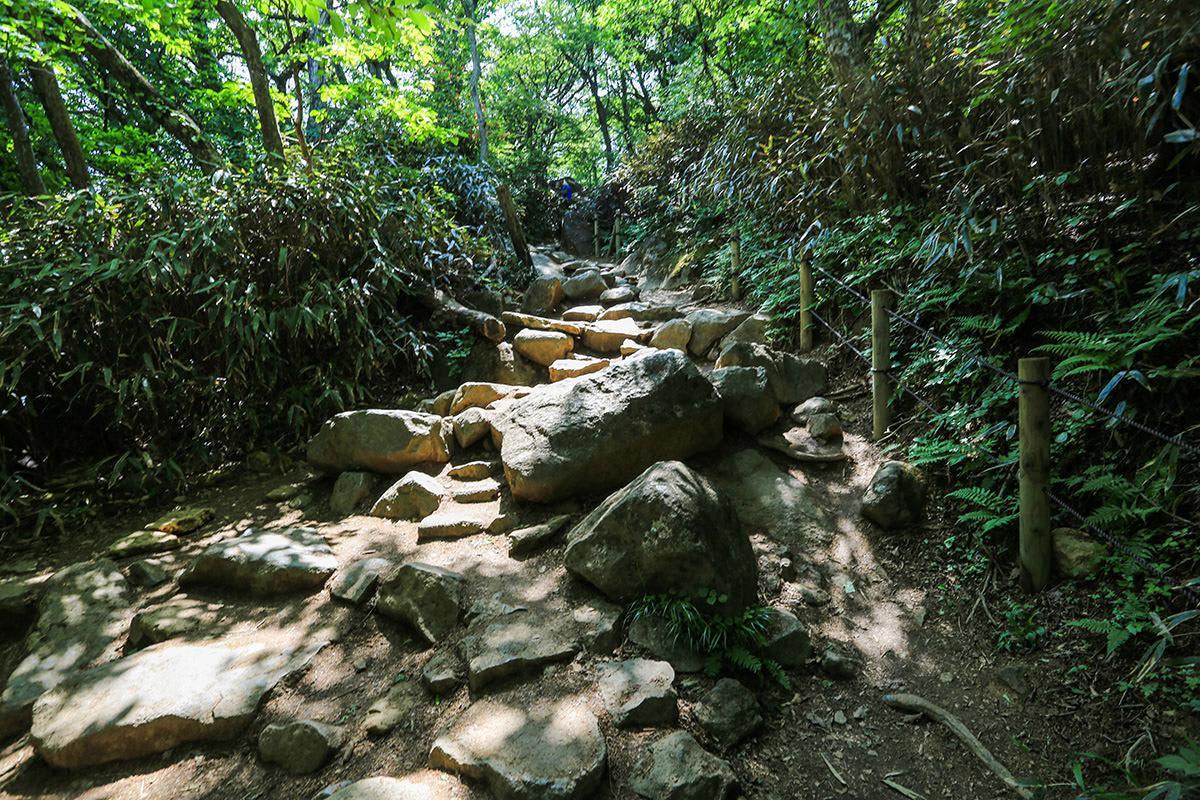 【筑波山】登山百景-大きな石もある