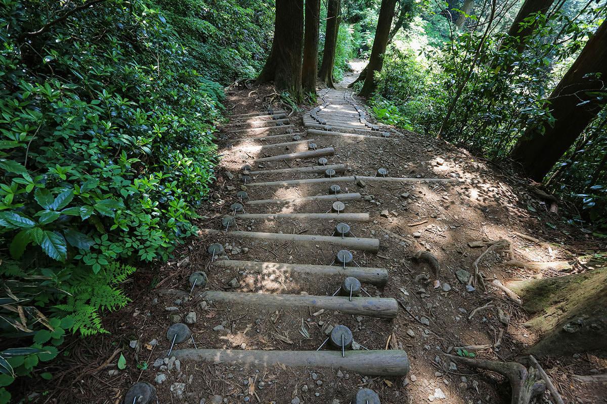【筑波山】登山百景-階段を下りる