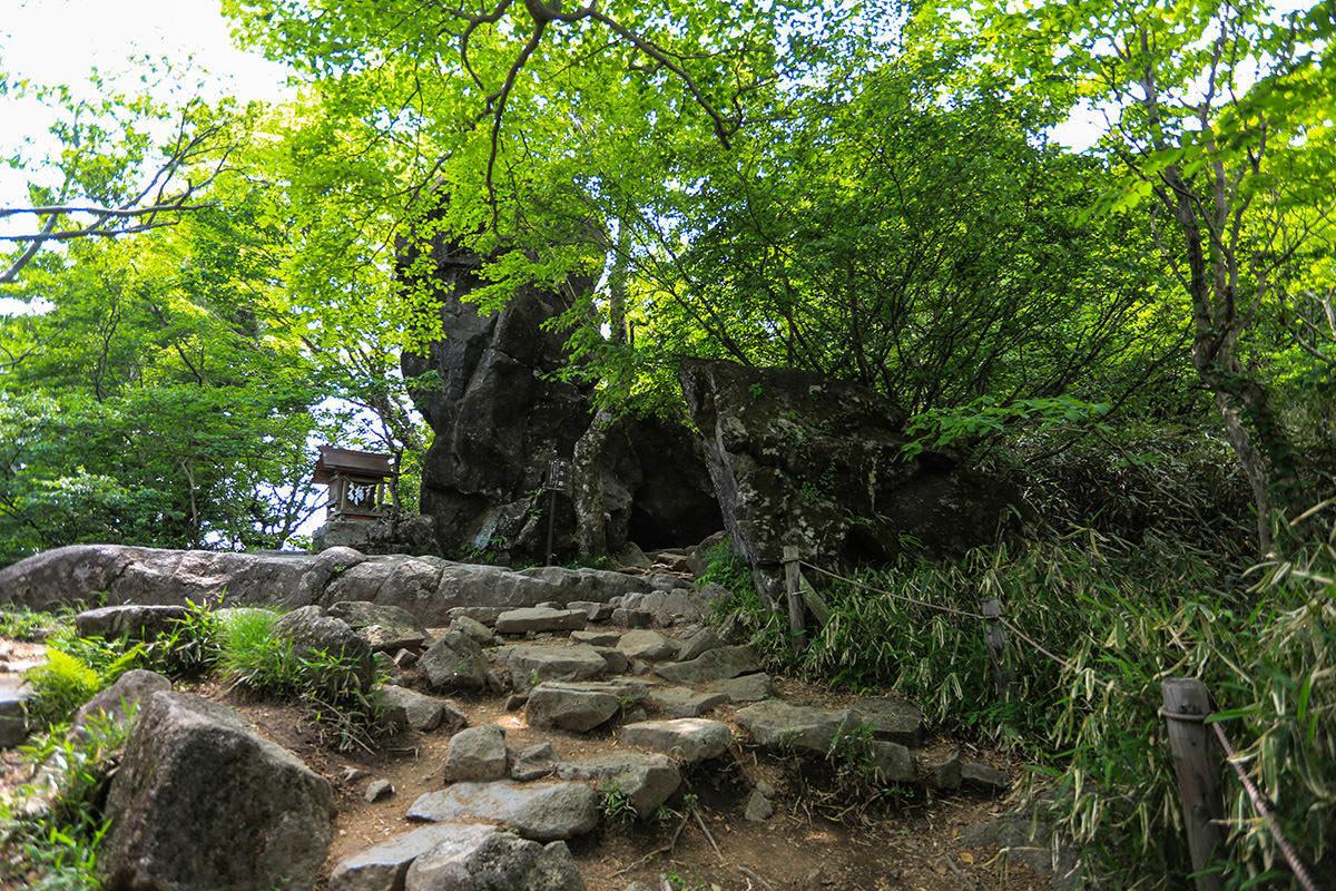 【筑波山 白雲橋コース】登山百景-北斗石
