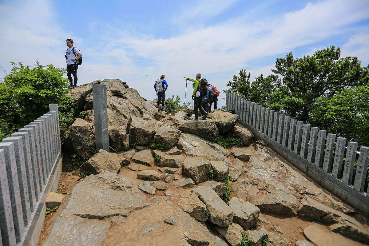 【筑波山 白雲橋コース】登山百景-山頂の岩場