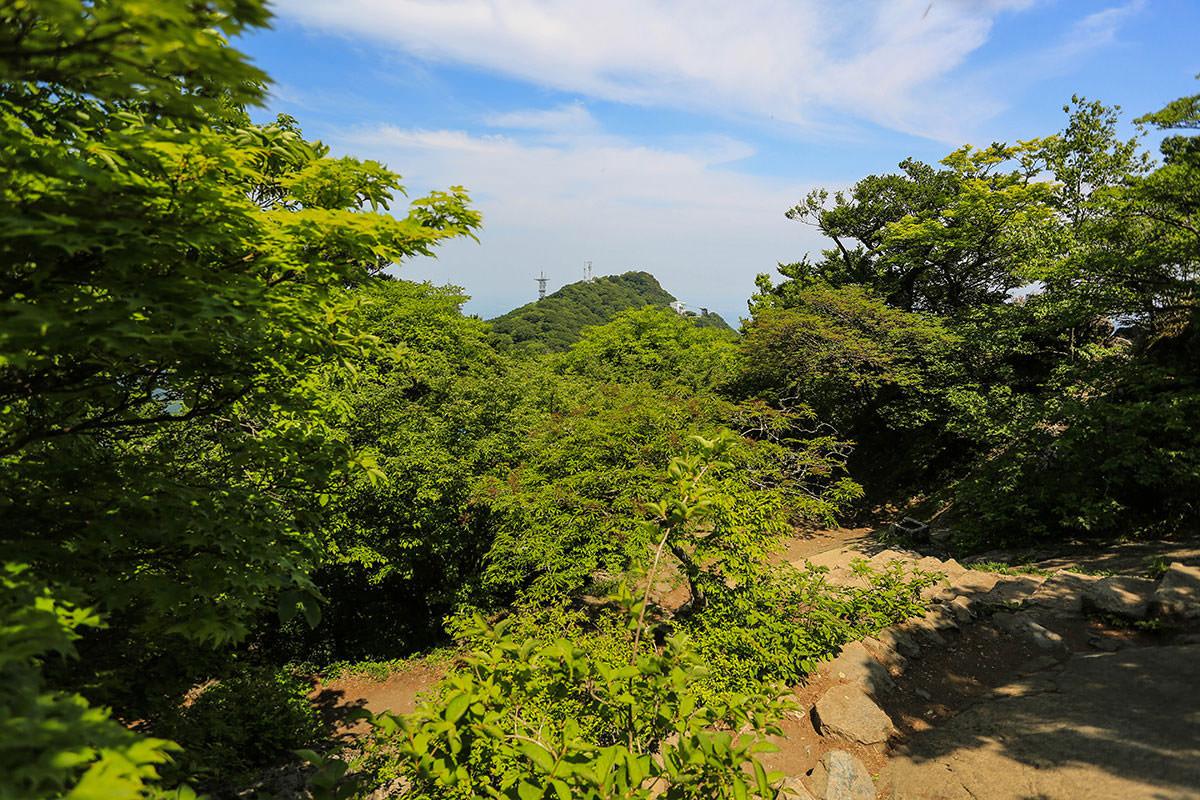 【筑波山 白雲橋コース】登山百景-女体山が見える