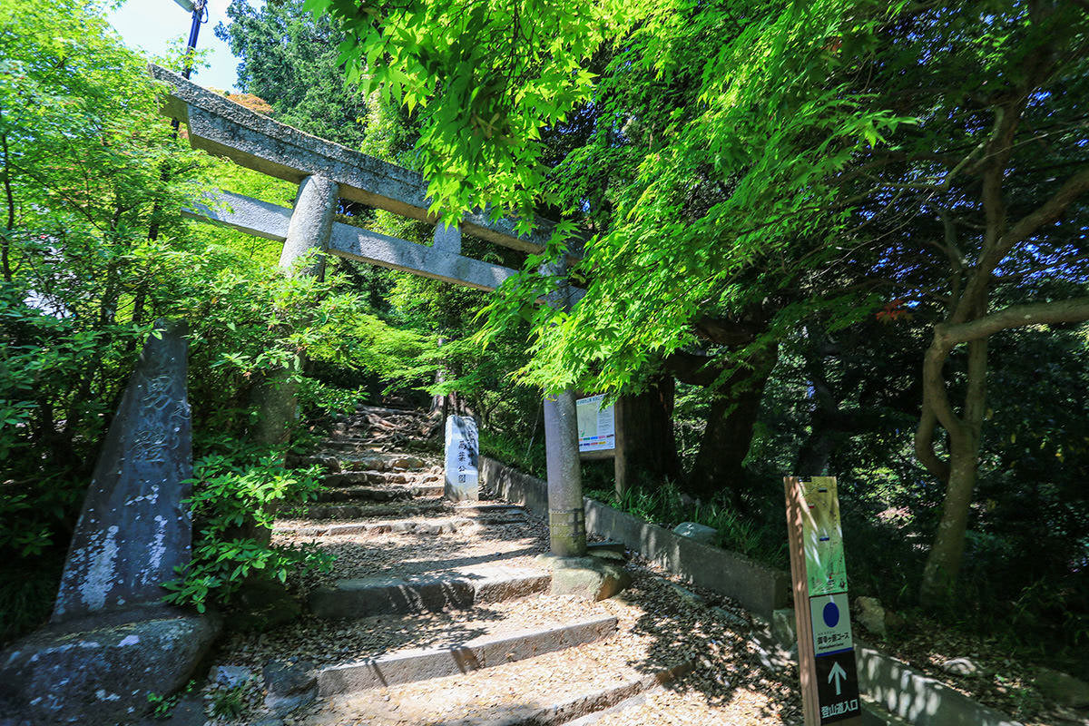 【筑波山 白雲橋コース】登山百景-御幸ヶ原コースの登山口
