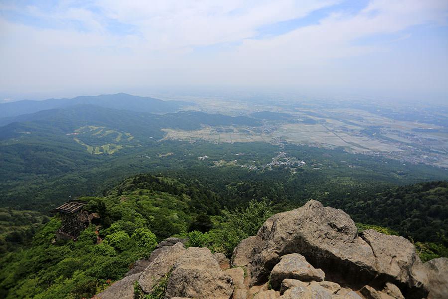 ハイキングのように登った筑波山からの眺め