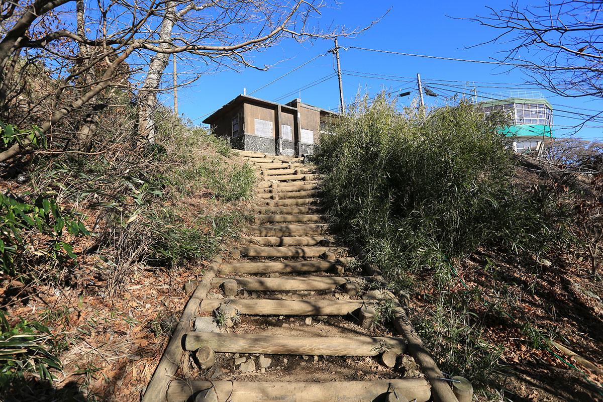 【筑波山】登山百景-御幸ヶ原の建物が見えた