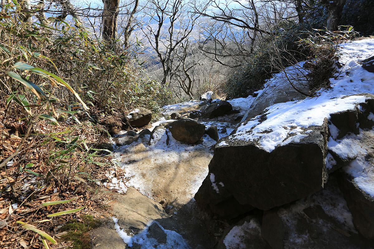 【筑波山】登山百景-雪が残る