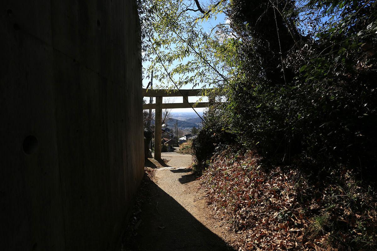 【筑波山】登山百景-白雲橋の鳥居