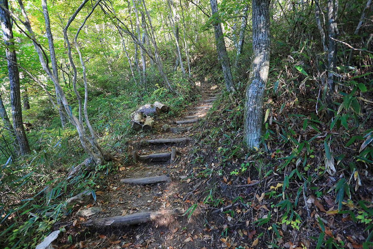 【空木岳】登山百景-けっこう急