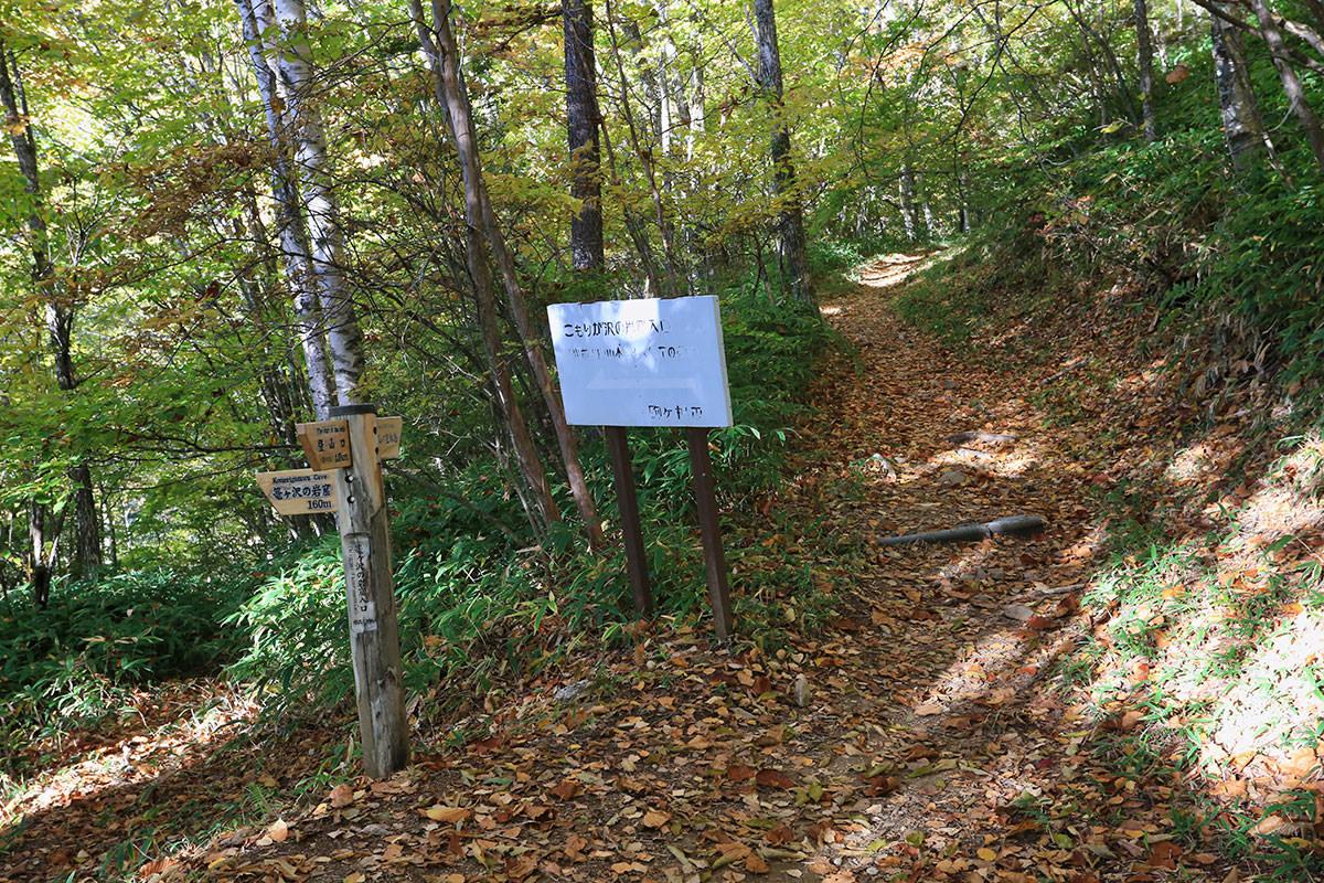 【空木岳】登山百景-右が登山道