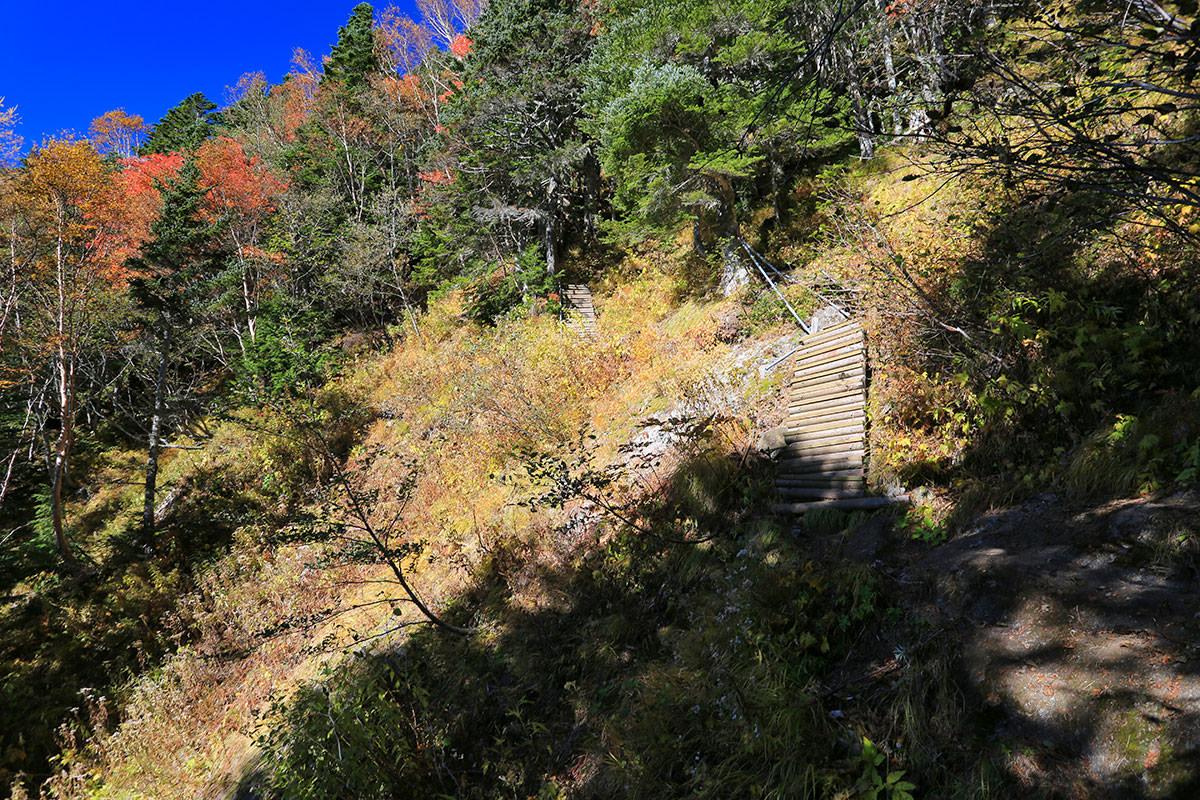 【空木岳】登山百景-急な坂はまだまだ