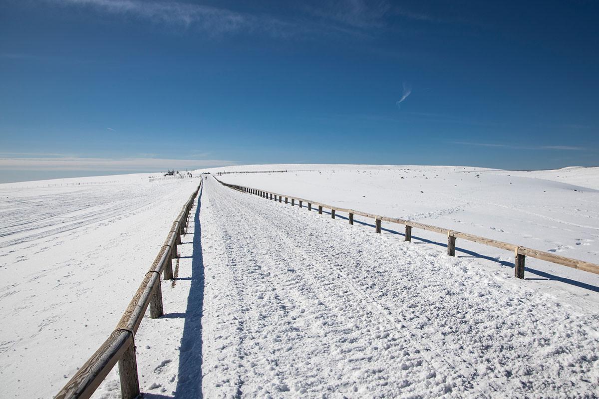 とにかく青い空と白い雪