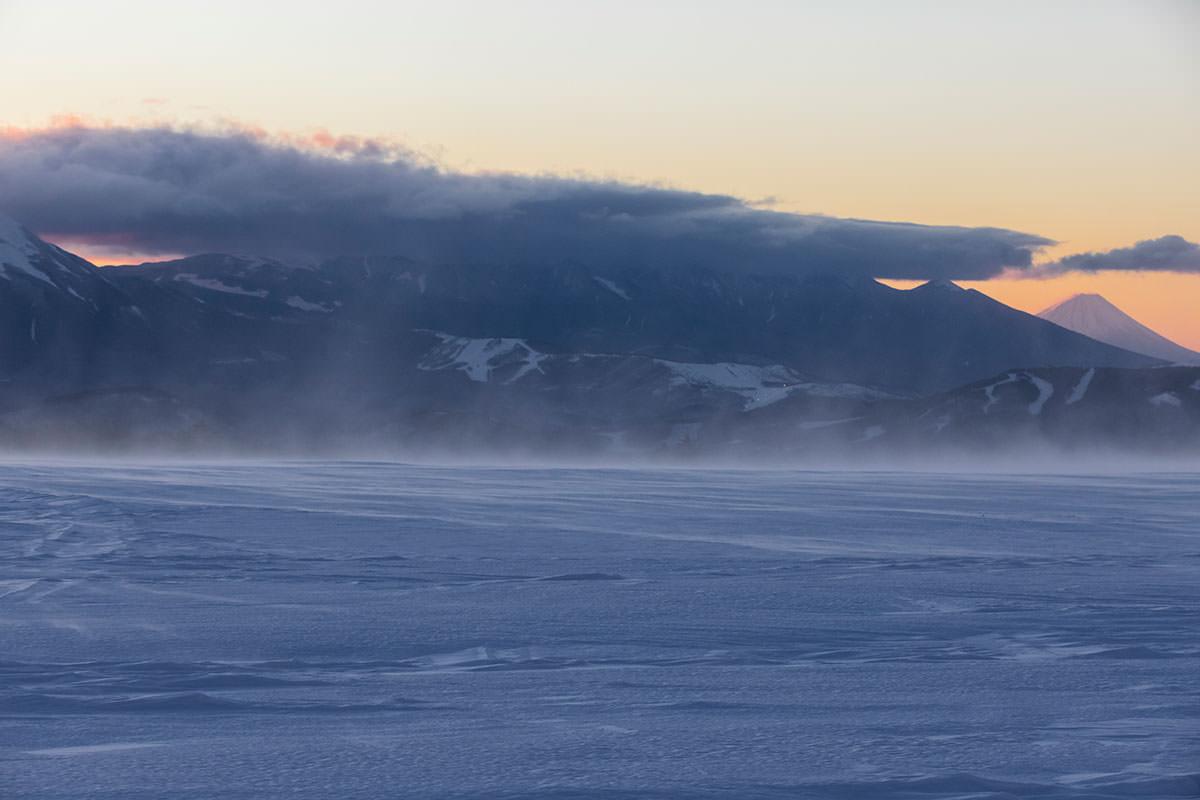 八ヶ岳には雲がかかっている
