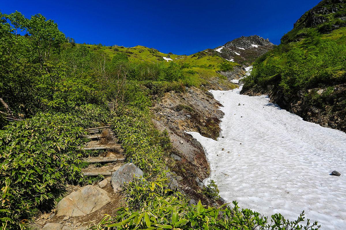 【焼岳 中ノ湯登山口】登山百景-ここから階段を上る