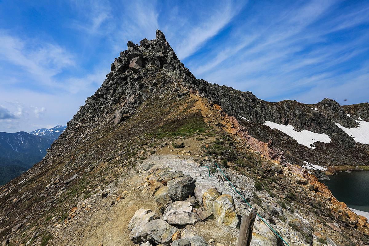 【焼岳 中ノ湯登山口】登山百景-北峰は立ち入り禁止