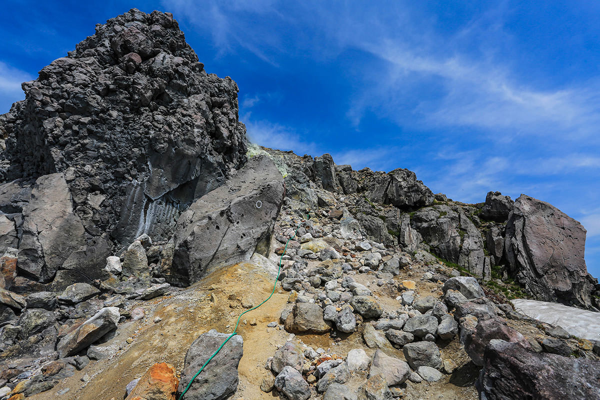【焼岳 中ノ湯登山口】登山百景-山頂へさらにガレ場