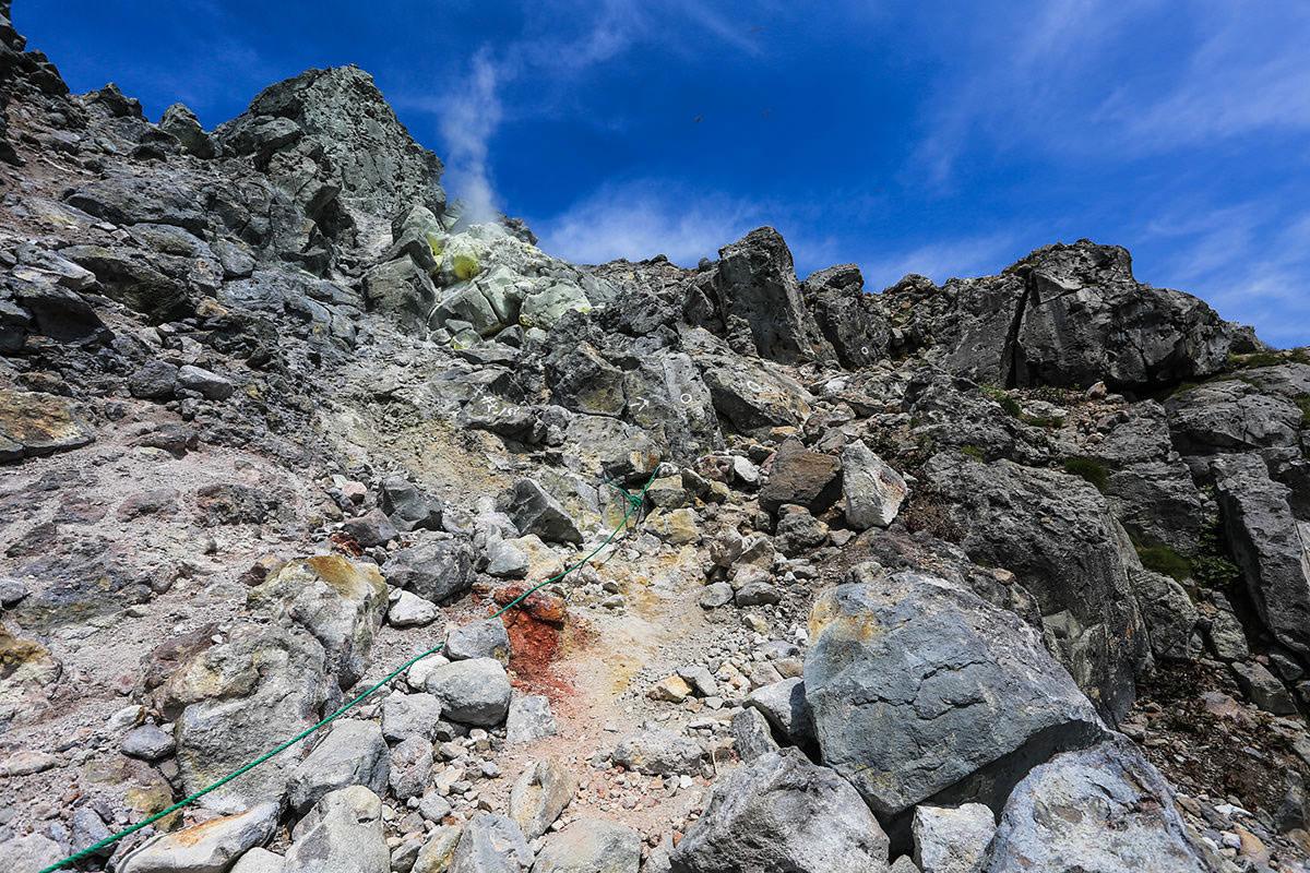 【焼岳 中ノ湯登山口】登山百景-ここの登り下りに注意