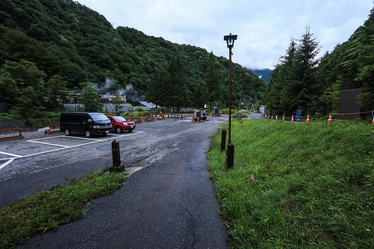 槍ヶ岳-登山には第2駐車場