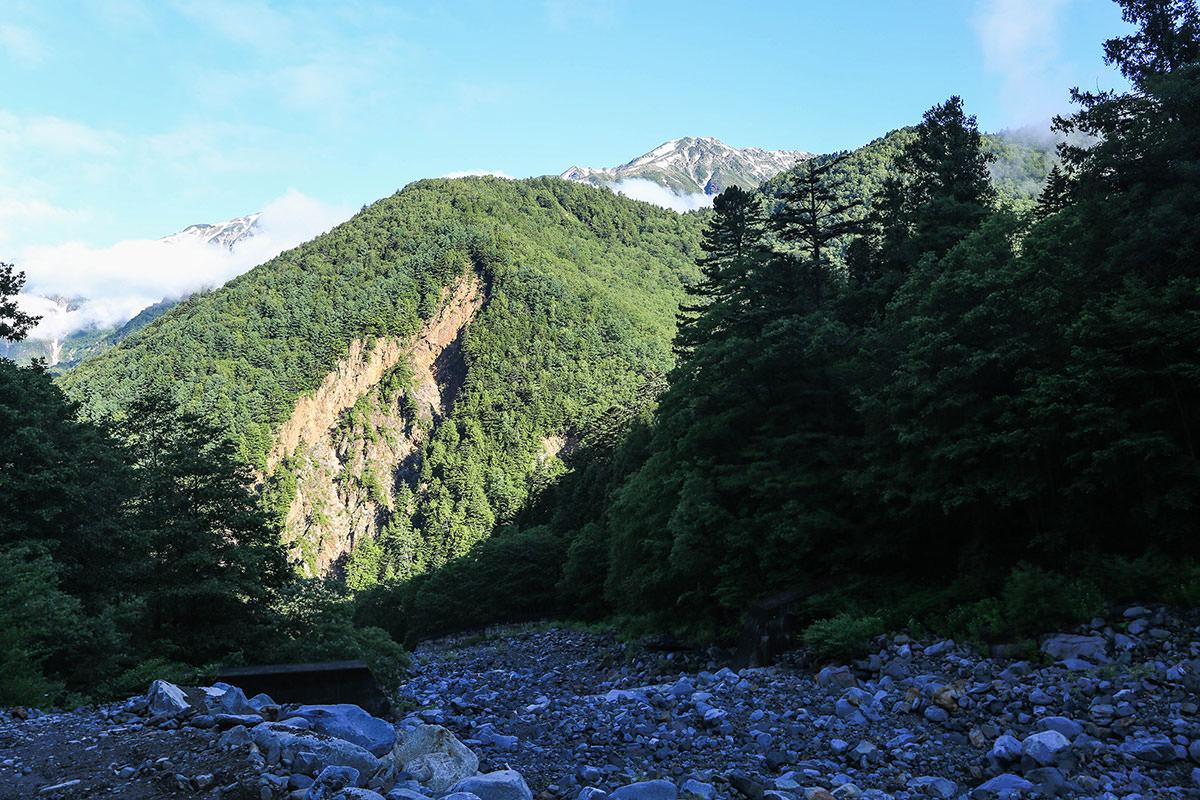 笠ヶ岳の方