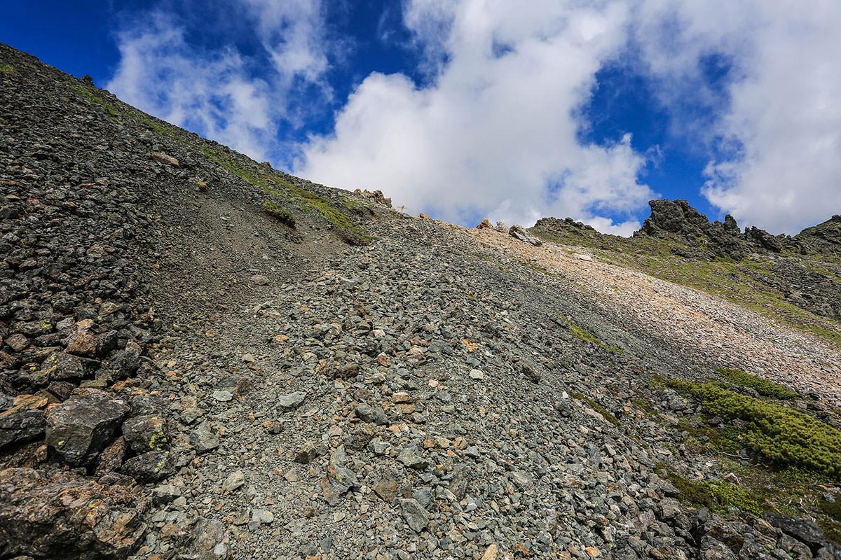 槍ヶ岳-飛騨乗越まで少し。槍ヶ岳が見えてからが長かった。