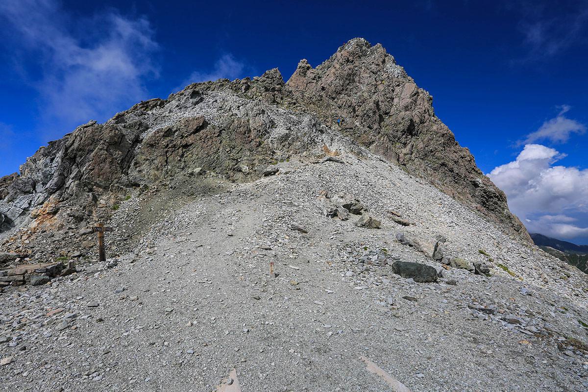 槍ヶ岳-槍ヶ岳山の山頂へ