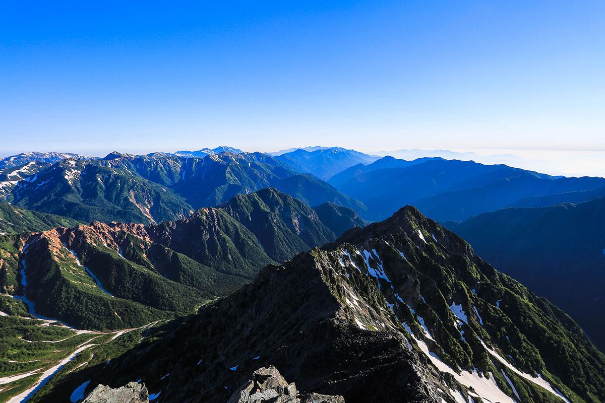 槍ヶ岳-後立山の方