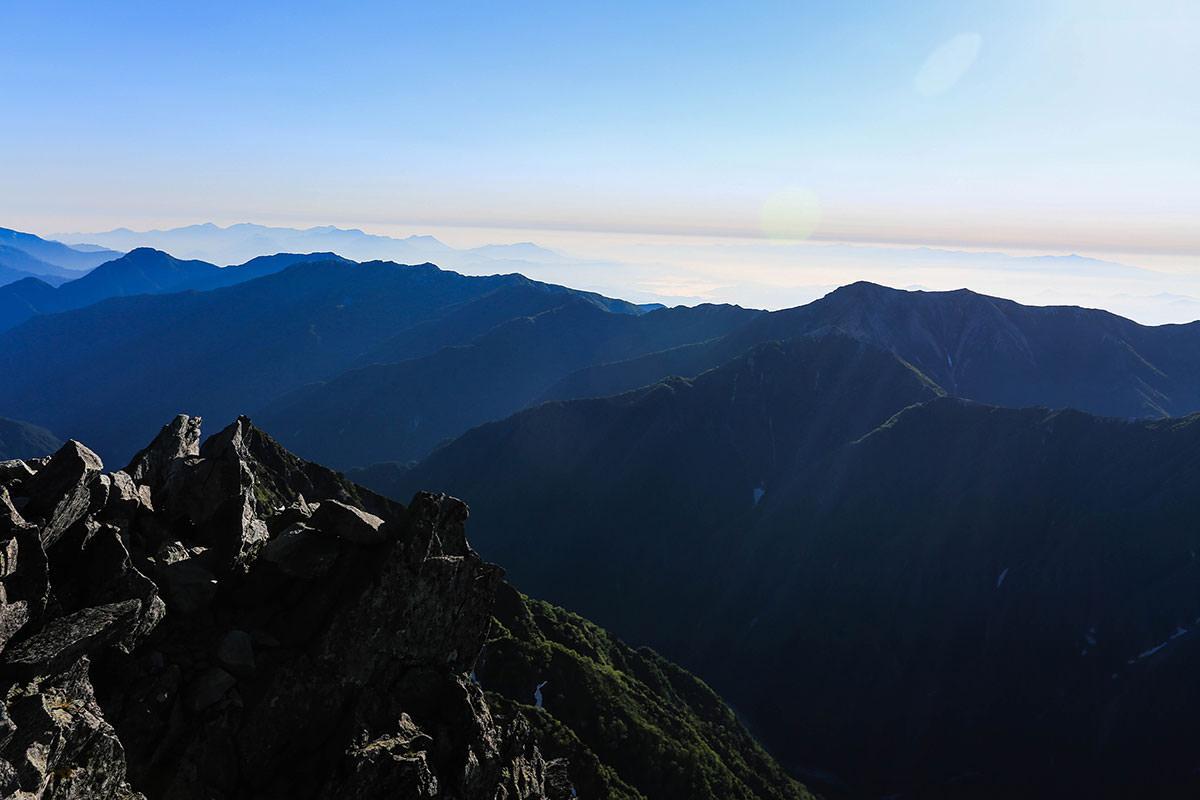 槍ヶ岳-北の方の空