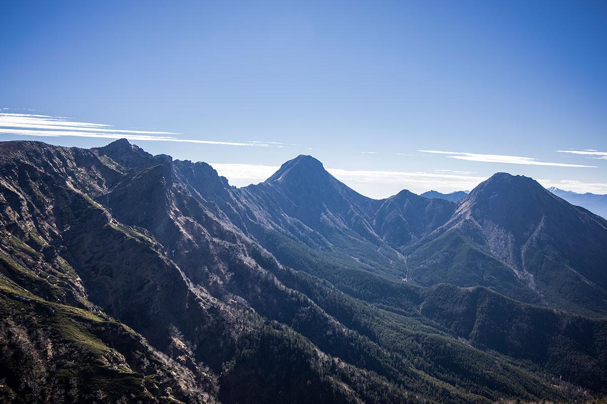 左手側には南八ヶ岳がどーん