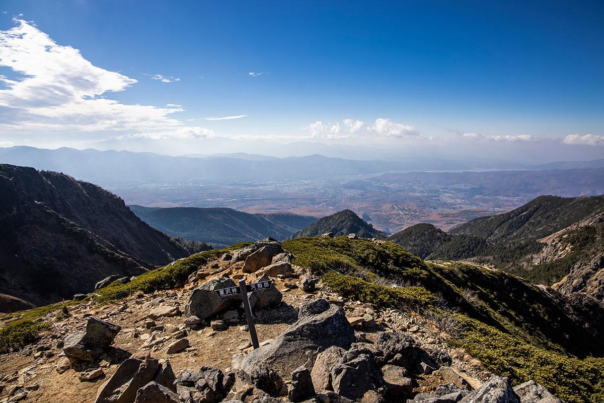 根石岳から西側の景色