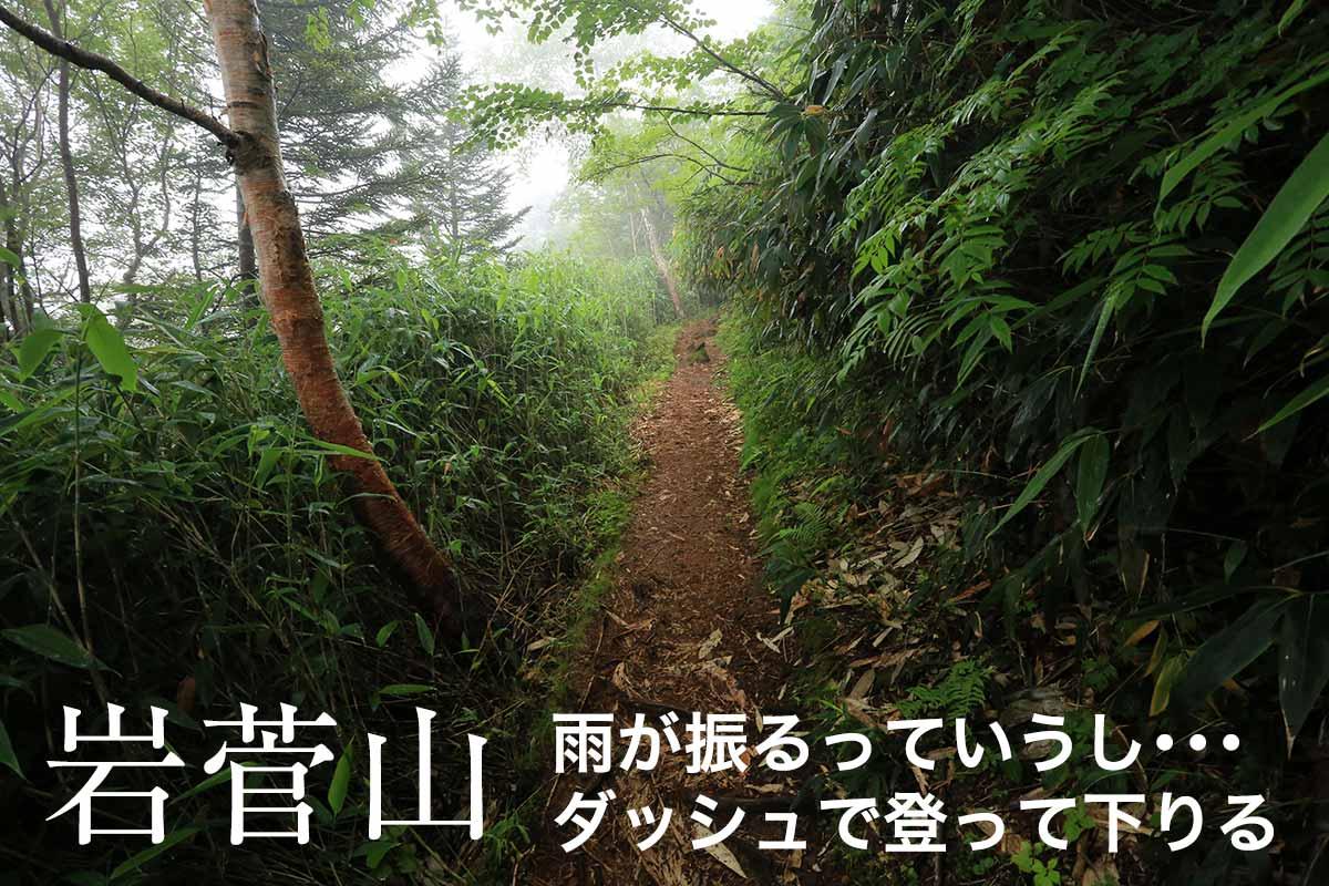 岩菅山の山頂は真っ白