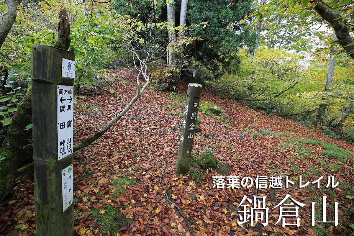 秋の鍋倉山 信越トレイル