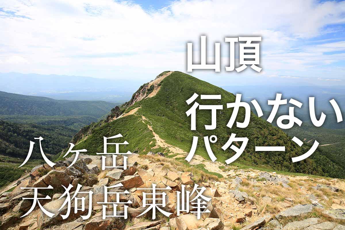 山頂へ行かないパターンの八ヶ岳天狗岳